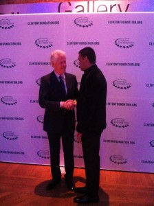 Meeting President Clinton